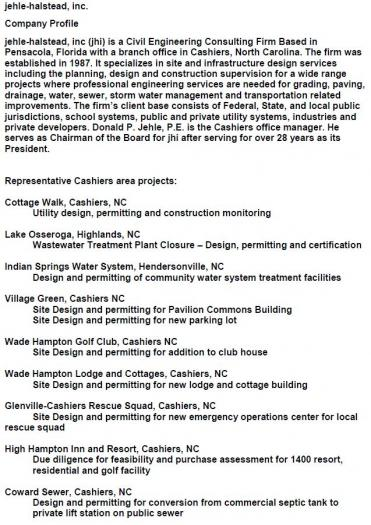 Jehle-Halstead, Inc - Cashiers Area Chamber of Commerce