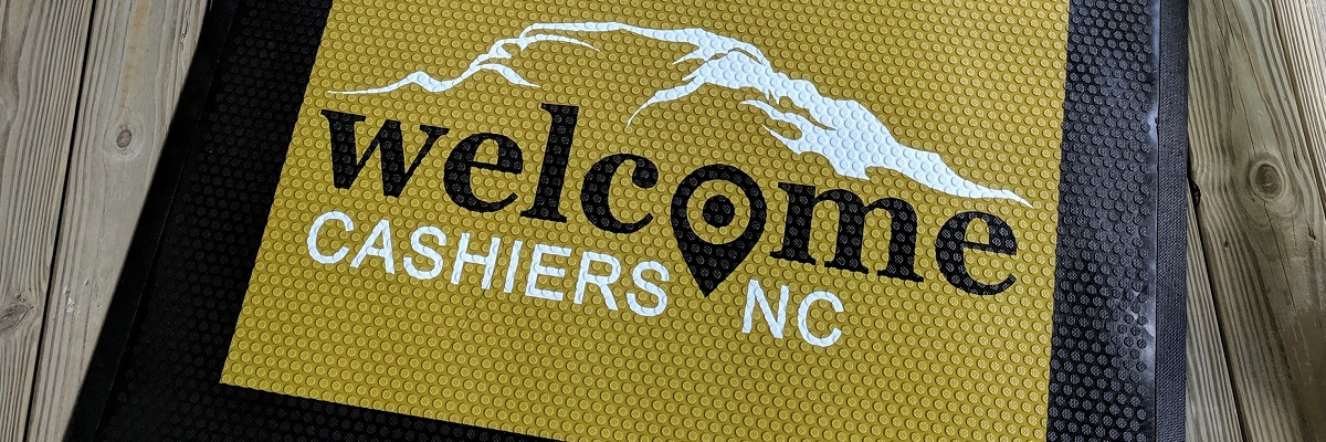 Welcome Cashiers Doormats and Cashiers Valley Flags Have Arrived!