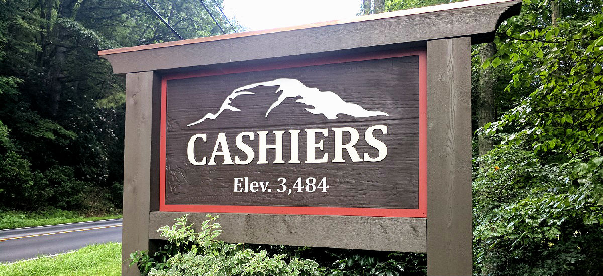 Desination_Cashiers_Sign_Banner
